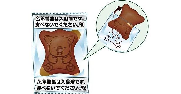 チョコレートの香りの入浴剤は、チョコレート色