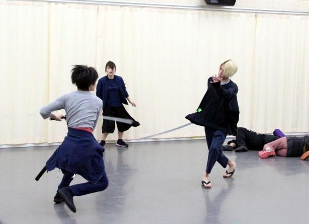 うきは(鈴木拡樹)と美女丸(早乙女)の決闘シーン