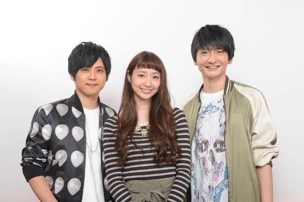 吹き替え声優に決まった梶裕貴、戸松遥、島崎信長(写真左から)