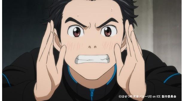 「ユーリ!!! on ICE」第5話先行カットが到着。勇利に宣戦布告する男!