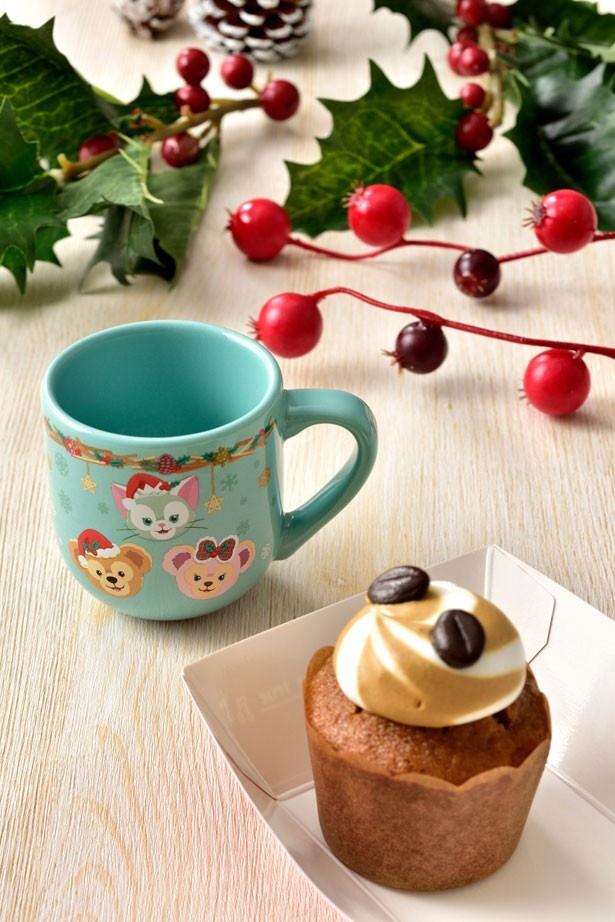 初登場!小さいサイズのデミタスカップが付いた「コーヒーカップケーキ、スーベニアデミタスカップ付き」(580円)