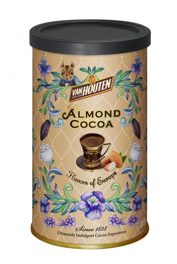 アーモンドとチョコレートが香る贅沢なミルクココア「<バンホーテン>アーモンド ココア」(648円)