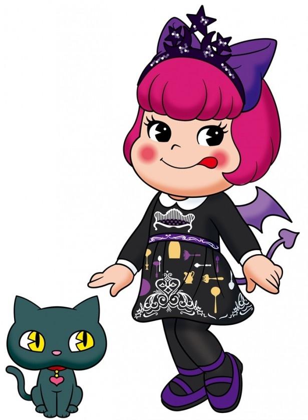 アナ スイのワンピースを着たペコラちゃんとキャット