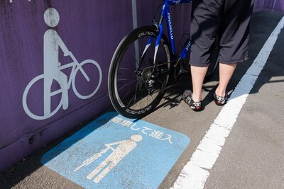 HIBIYA RIDEへの道は、自転車から降りて進もう