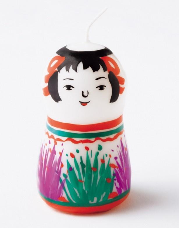 pichio candleの 「こけしキャンドル」。高さ約8cm 2,100円