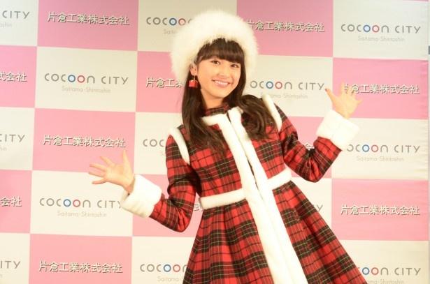 平祐奈がクリスマスイルミネーション点灯式に出席