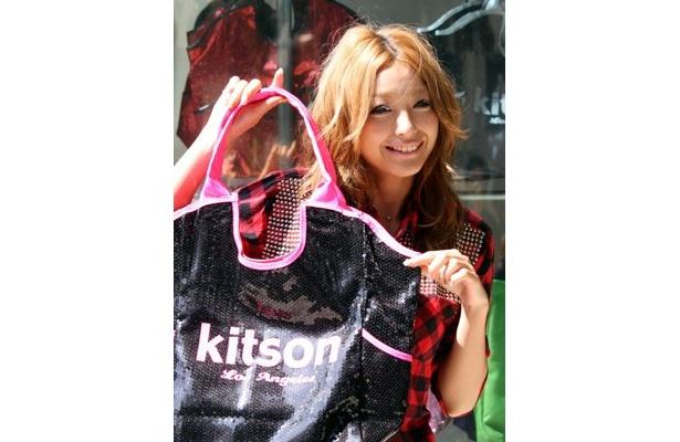 9/6、日本2号店となる「kitson studio」が、ラフォーレ原宿(東京・原宿)にオープン。ファーストショッピングセレブとして、いち早く買い物を楽しんだタレントの木下優樹菜さん