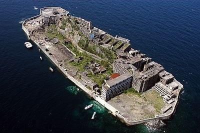 軍艦島の航空写真
