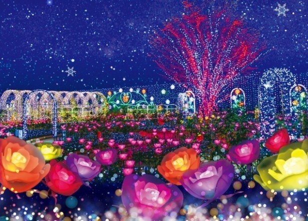 イルミネーション部門で1位に輝いた、あしかがフラワーパーク「光の花の庭」
