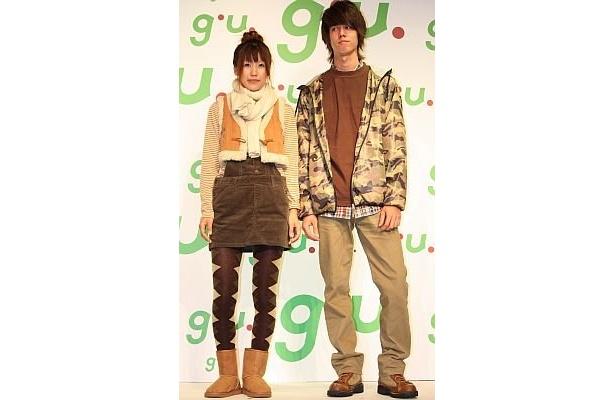 南さんが提案するカップルコーディネート。トータルで男性¥8960、女性が¥5940