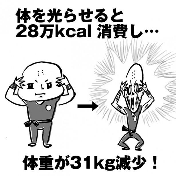 【図解】体を光らせるには大量のエネルギーが必要!1度使うとクリリンは、こんなことに…