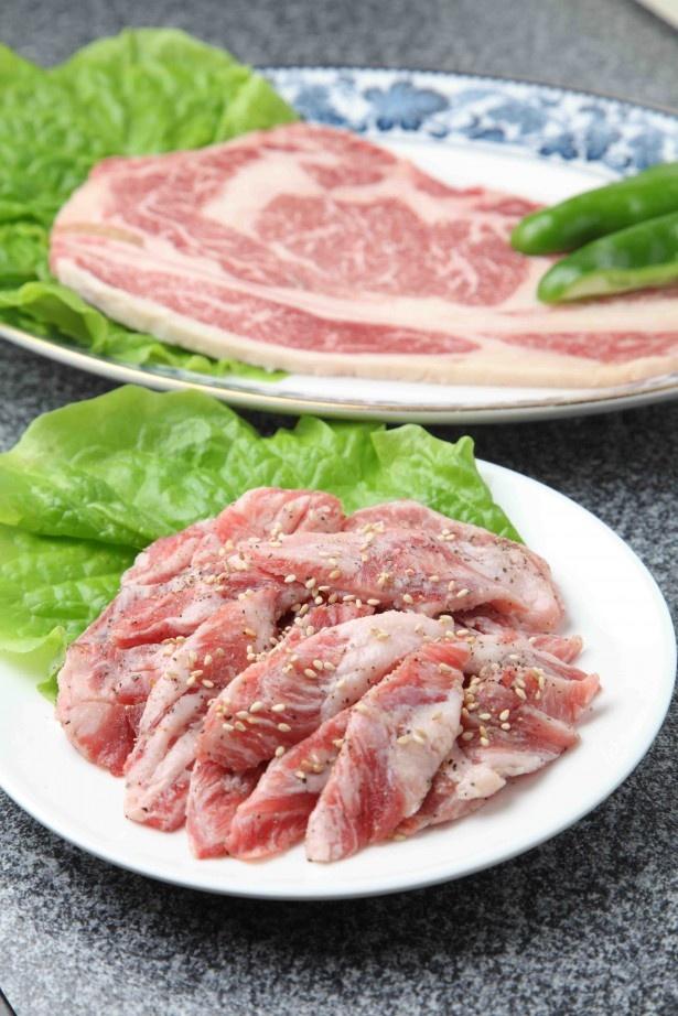 【炭火焼肉・ピョンヤン冷麺 三千里】上ロースとイベリコ豚のリブフィンガー