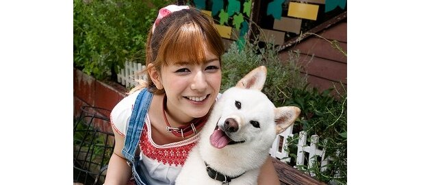 愛らしい犬の魅力に映画初主演のスザンヌもメロメロ