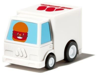 プルバック式のミニカー「うごくモッさんトレーラー」