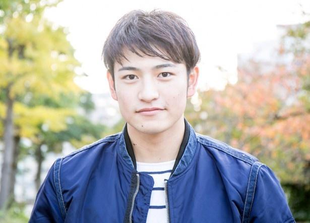身長184cmの大きな体と、あどけない笑顔のアンバランスさが魅力の北田祥一郎(19)