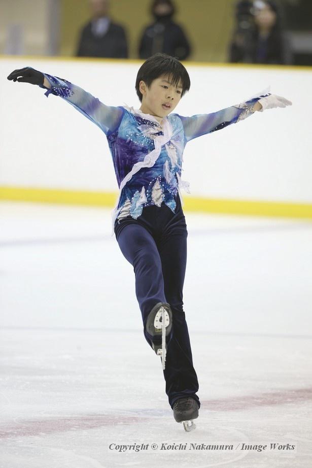 演技後半、情熱的な表現を見せる佐藤駿