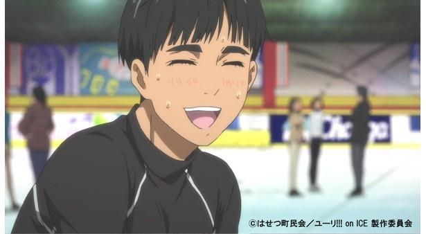 「ユーリ!!! on ICE」第7話先行カットが到着。勇利のガラスハートがドキドキ!