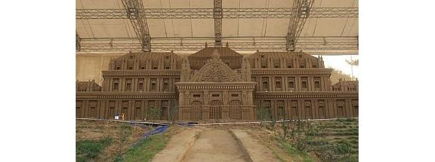 今回のテーマは「砂で世界旅行・オーストリア編」 ※写真は「ベルヴェデーレ宮殿」
