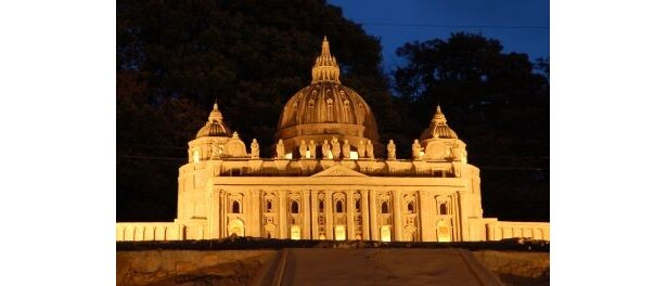 第1期展示「イタリア・ルネサンス」ではサンピエトロ大聖堂も