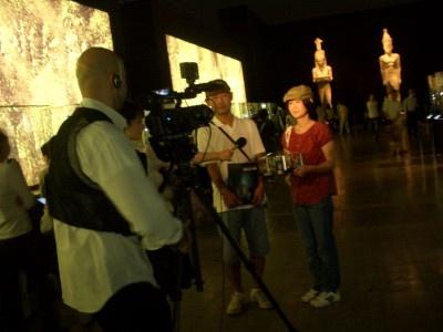 エジプトのプレスも取材に訪れていました