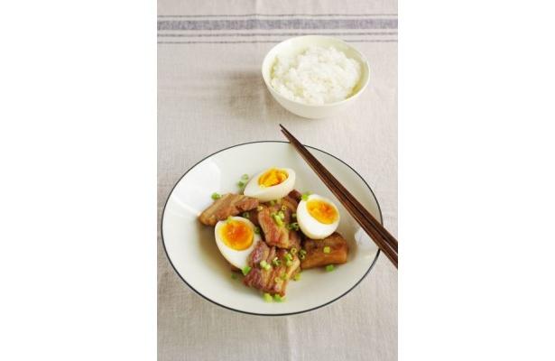たるみ肌防止に「豚肉と半熟卵のお酢煮」