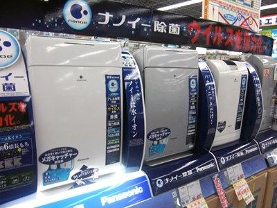 パナソニックからも登場する「対・新型インフルエンザ」空気清浄機 (LABI渋谷店)