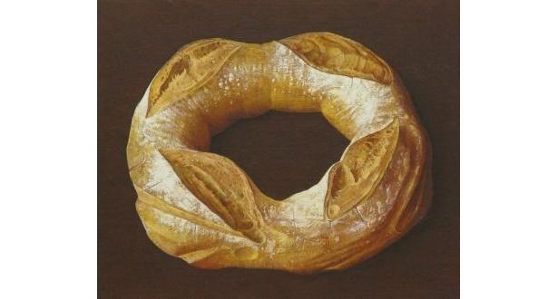 粉が手についちゃいそうな、このリアルなパンも…絵なんです