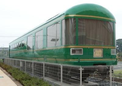 ダイニングカー(オシ25 901)は、エコガーデン内に展示