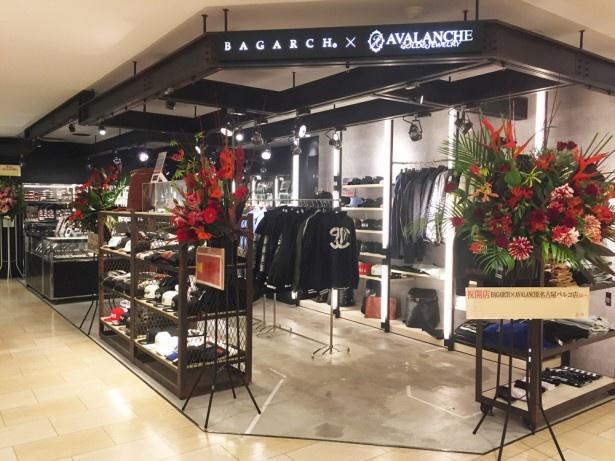 名古屋パルコにオープンしたBAGARCH×AVALANCHEのコラボショップ