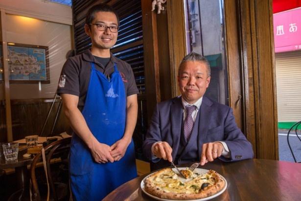 「本物のピッツァが食べたければピッツァ職人がいるお店へ」(Jaffa)。ピッツァ職人の平浜史規さんも自信を持っておすすめする「セイフォルマッジ」(2850円)/ラ・ピッコラ・ターヴォラ
