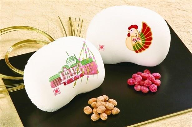 【写真を見る】「まめや 金澤萬久」の「豆菓子詰合せ『福』」(2箱入り2214円)