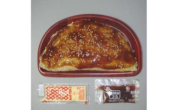 「キャベツと焼そばを包んだお好み焼」350円が320円に (サークルKサンクス)