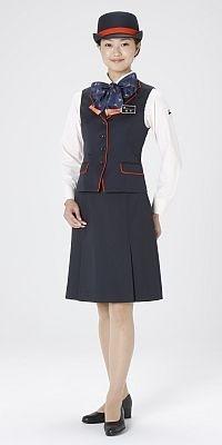 奈良交通(奈良県)のバスガイドの制服。バスガイドさんが24人も登場するので、華やかなステージになるハズ