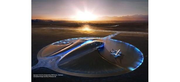 出発はアメリカ・ニューメキシコ州で建設中の宇宙旅行基地(イメージ)