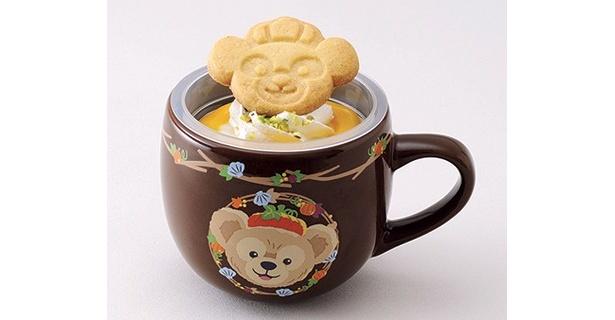 「パンプキンミルクムース、スーベニアカップ付」(600円)は、ダッフィー柄のカップ (東京ディズニーシー)
