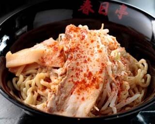 鶏豚油そば(670円)