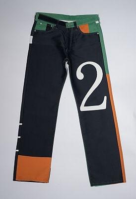 【ジーンズの商品画像】 「シネマ歌舞伎座」の広告幕を使ったジーンズはこんなにオシャレ