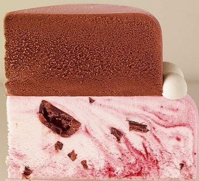 チョコずっしり!ハート型ケーキの中身はこんな感じ