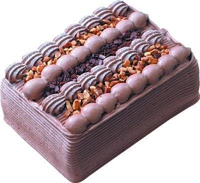 「ナッティチョコレート」(2200円〜) 。ヨコ約10cm×タテ約15cm×高さ約5cm