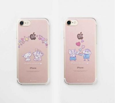「ビストロ オラマチ オリジナル iphone7ケース」は「ビストロひまわり&シロ」と「ビストロしんちゃん&ぶりぶりざえもん」の2種類
