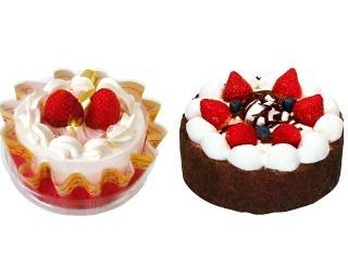 イチゴの新作スイーツ「プレミアショートケーキ」(480円)など、12月26日(月)から順次発売!