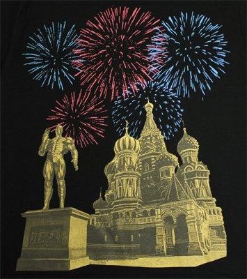 聖ワリシイ大聖堂をバックに花火が上がるデザイン