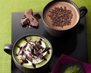 「チョコレート&抹茶モカ」(左)と「チョコリスタ」(右)