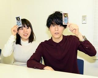 ウォーカープラス編集部の大学生スタッフ、ワタナベ(左)とコダマ(右)が体験!
