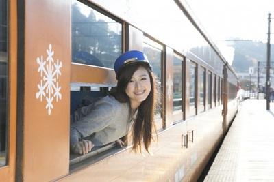 最後は駅員さんの帽子を借りてパチリ
