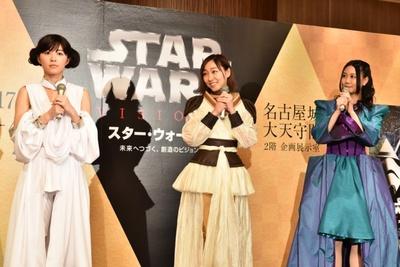 アンバサダーを務める松井珠理奈(左)と、応援ゲストの須田亜香里(中)、古畑奈和(右)
