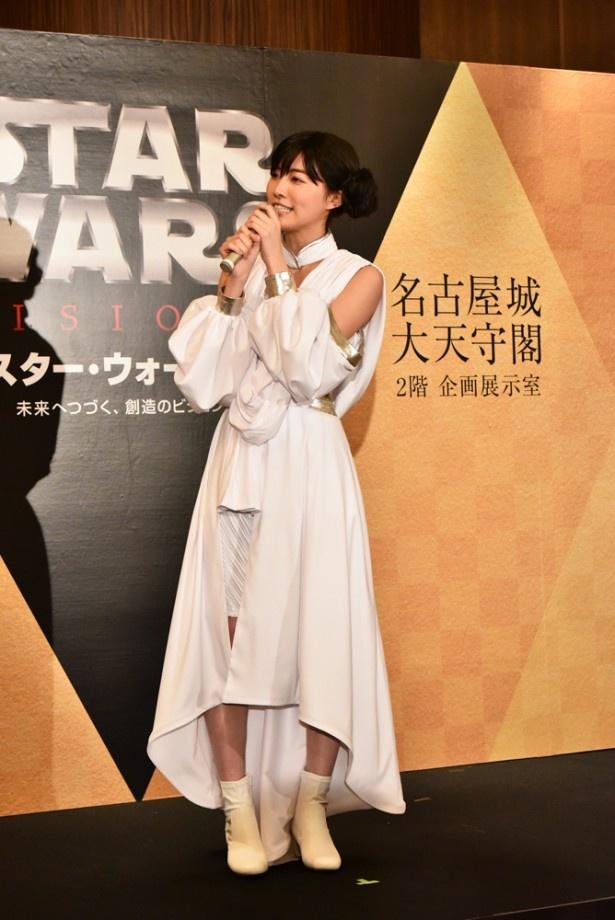 「C-3POとR2-D2のコンビが大好き!」と話す松井珠理奈