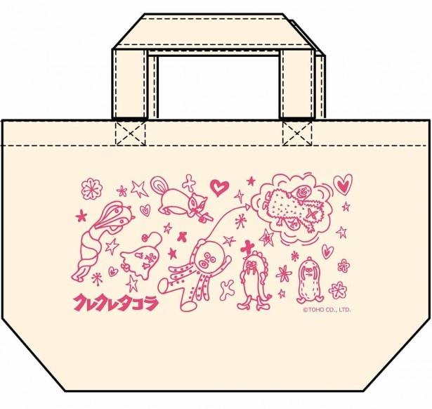 【写真を見る】タコラと仲間たちがデザインされたB賞の「ランチトートバッグ」