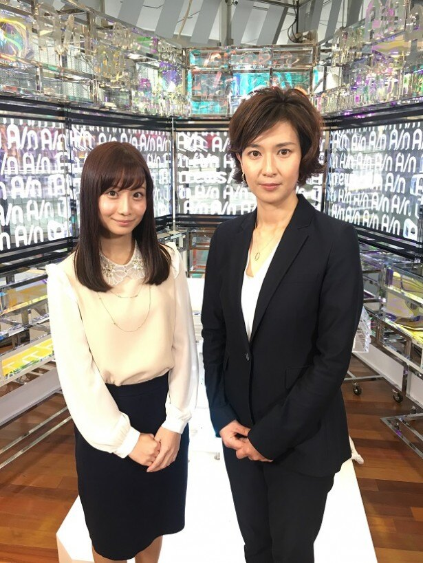 「けやきヒル'sNEWS」でキャスターを務める柴田阿弥と徳永有美(写真左から)