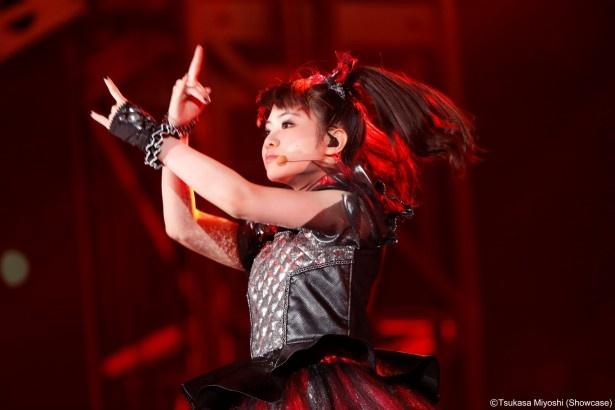 9月20日の東京ドーム公演の模様。 MOAMETAL (Scream,Dance)